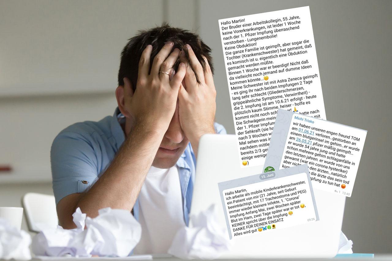 Telegram-Gruppe sammelt Nebenwirkungen – erste Ergebnisse schockieren